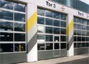 apu 40. Промышленные автоматические ворота из стали и алюминия.