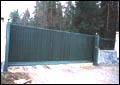 Въездные ворота. Автоматические откатные консольные ворота.